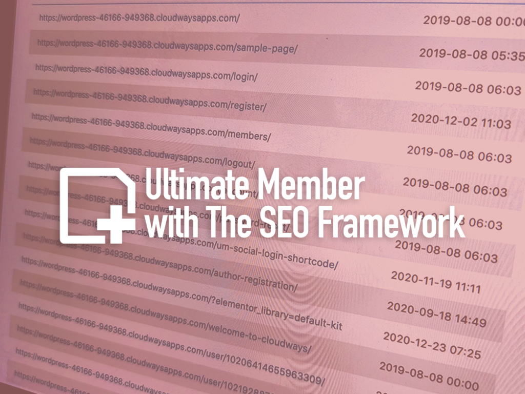 Ultimate Member with The SEO Framework