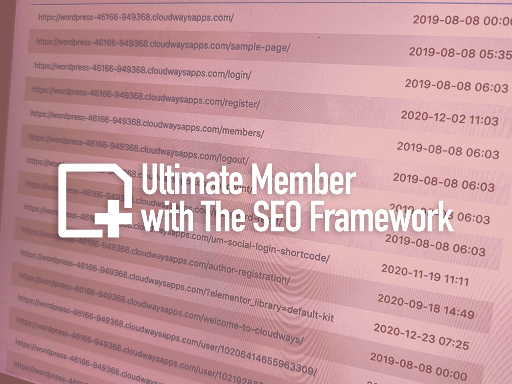 ultimate-member-theseo-framework